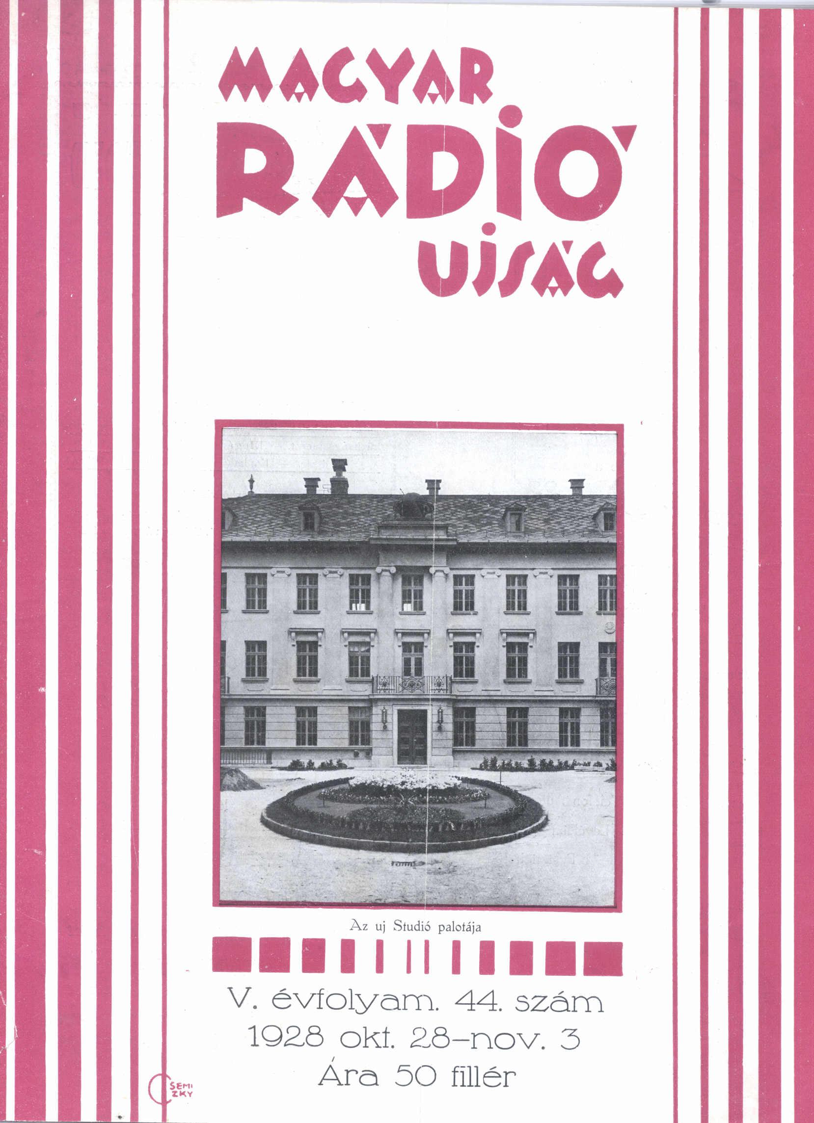 MRU címlap1928. 44. címoldal