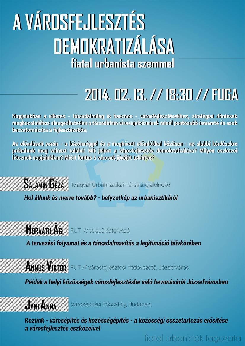 FUT_varosfejlesztes demokratizalasa_plakat web