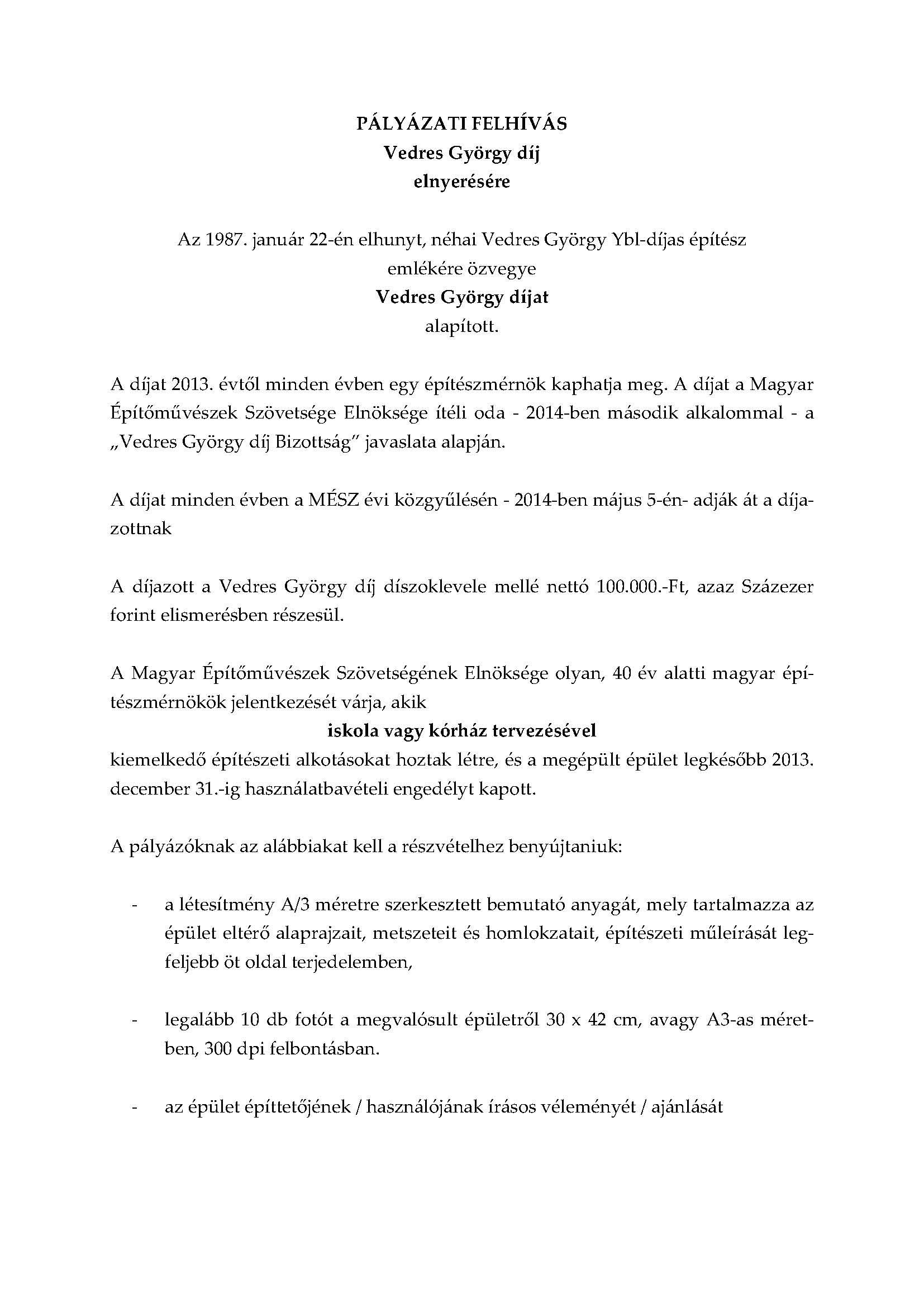 Vedres György díj_PÁLYÁZATI FELHÍVÁS_2014_mod1_Page_1