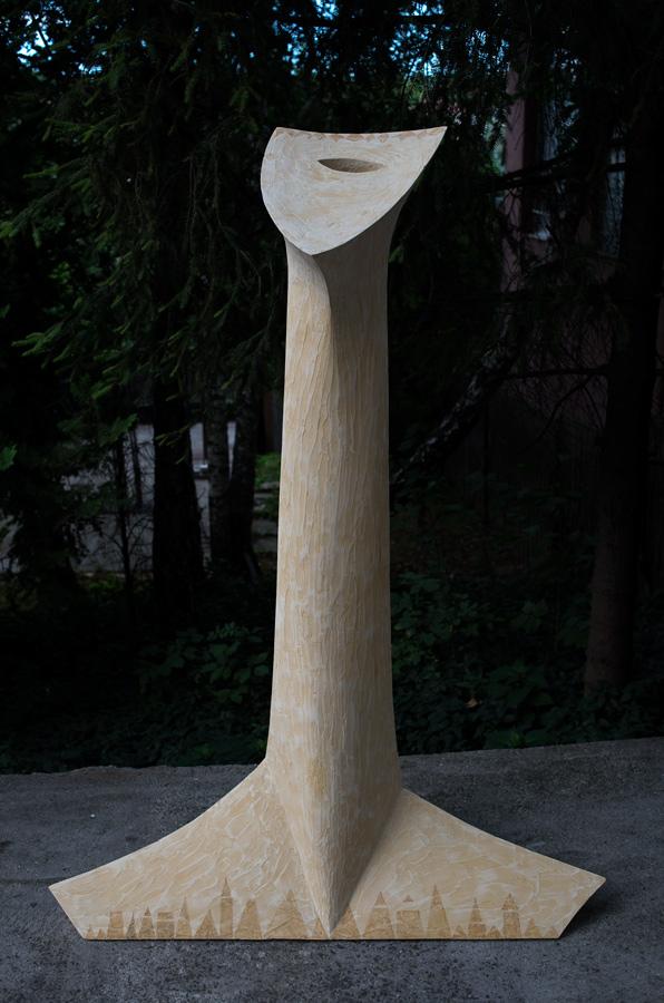 Spiritual Gravitation VIII. 157x116x43 cm geopolymer, pigment 2015