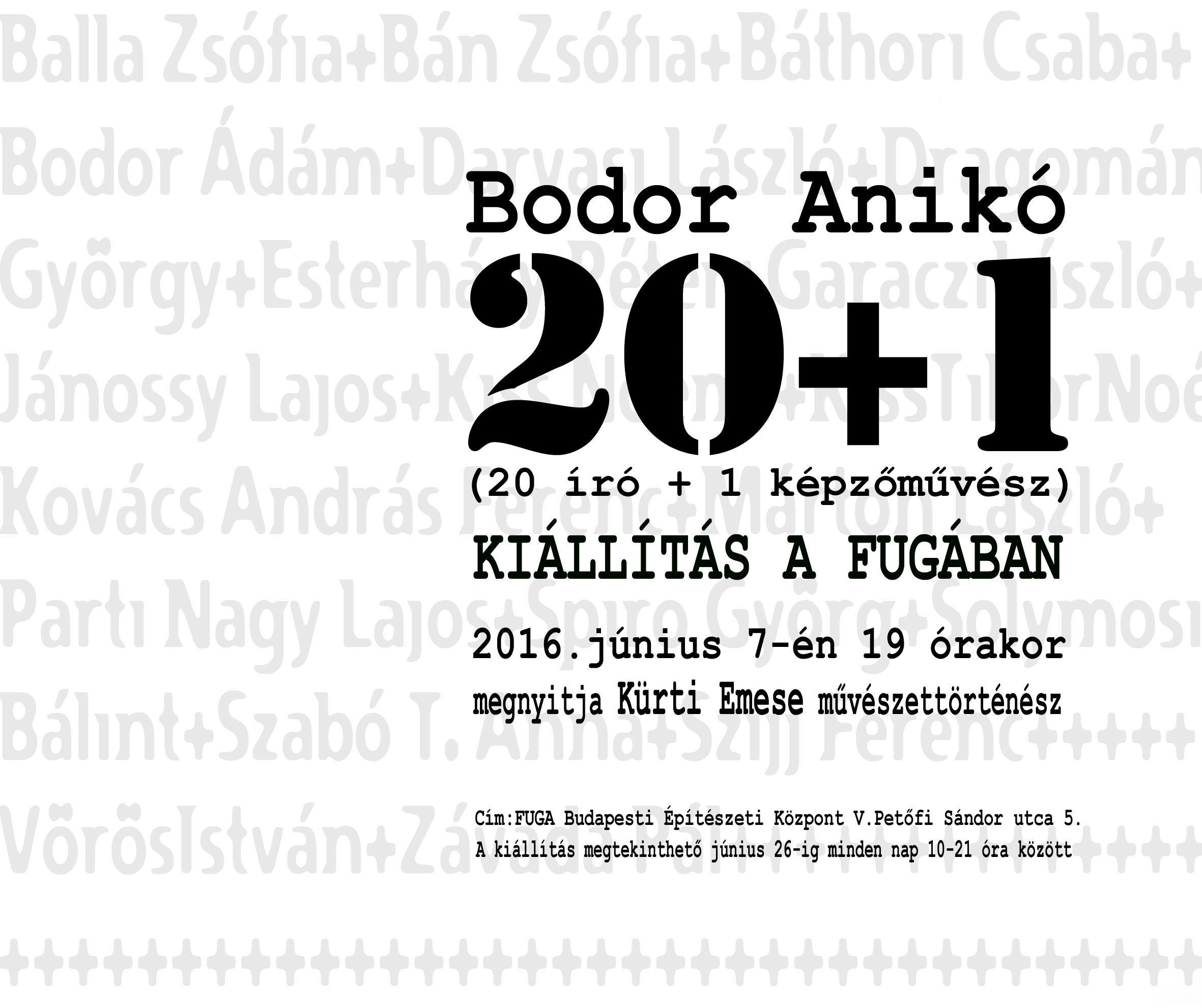 Meghívó  Bodor Anikó kiállítás