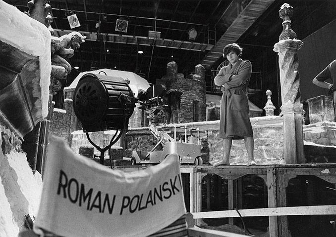 Roman Polanski on the set of The Fearless Vampire Killers